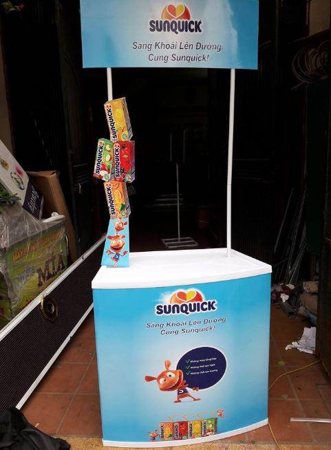 Booth sampling bán hàng bằng Nhựa 1