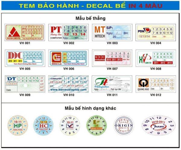 In tem bảo hành tem vỡ, tem bể | Giá rẻ nhất HCM, In 1 ngày có