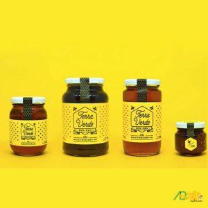 Nhãn thiết kế in tem mật ong đẹp