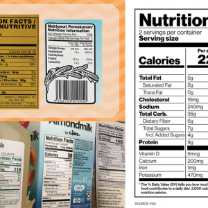 Tem decal thông tin dinh dưỡng
