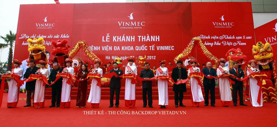 Thiết kế thi công backdrop sự kiện Vietadv.VN